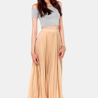 Black Sheep Zephyr Beige Maxi Skirt