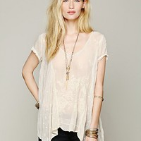Free People Embroidered Confections Top