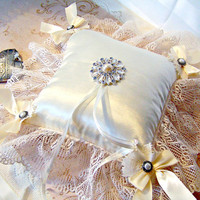 Jennifer ivory satin deluxe ring bearer&#x27;s by GaffneyGirlStudio