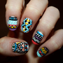 Tribal/Aztec Illuminati Nail Art Set of 24 by ZebberCustomNails