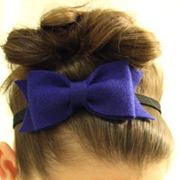 Navy Blue Bow Headband by lovelovelovedesigns on Etsy