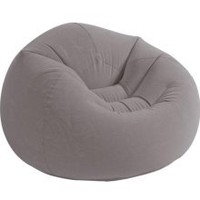 Contoured Corduroy Seat - Inflatable College Furniture (Gray)