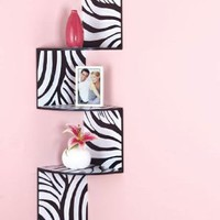 Zebra Corner Wall Shelf