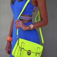The Neon Crossbody Purse: Yellow | Hope's