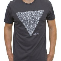 Keith Haring Triangle Vintage Inspired Solid Tee - Men's Tops - Short Sleeve - Junk Food Clothing