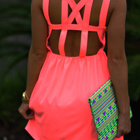 Feeling So Lovely Dress: Neon Pink | Hope's