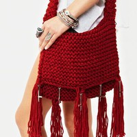 Relic Fringe Bag - Red in  What's New at Nasty Gal