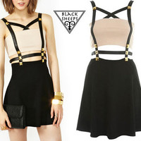 Sale-Harness Stud Dress from Blacksheep