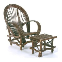 Rustic Fan Chair of Bent Willow by TheBentTreeGallery on Etsy