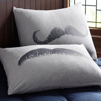 Mustache Pillowcases