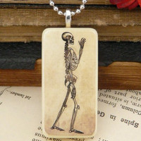 Skeleton Necklace Vintage Domino Medical by QuaintandCurious