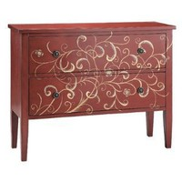 2 Drawer Accent Chest In Rich Red