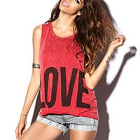 Love Hate Muscle Tee | FOREVER 21 - 2076528827