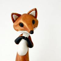 Red Fox Figurine by Bonjour Poupette by BonjourPoupette on Etsy