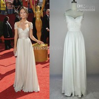 Wholesale Real Sample Vanessa Gossip Girl Olivia Wilde A Line Tank Chiffon Cap Sleeve Evening Dresses 2012, Free shipping, $127.68-145.6/Piece | DHgate