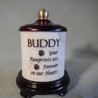 Marble Pet Urn by Stonegardenurns on Etsy