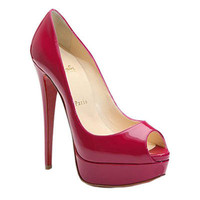 Christian Louboutin Lady Peep 150 Peep Toe Pumps Rouge - &amp;#36;143.00