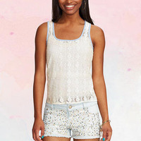 Embellished Light Wash Short