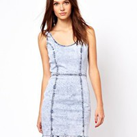 Warehouse Denim Bodycon Dress at asos.com