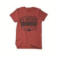 Ed Sheeran Radio T-Shirt (Red). Buy online, http://www.edsheeran.com/