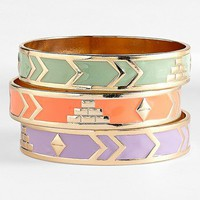 Statements by DCK Enamel Bangles (Set of 3) | Nordstrom