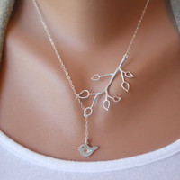 Bud Branch and Little Bird Lariat by morganprather on Etsy