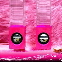 US seller NEW in HOT PINK Atake Music Fountain Mini Amplifier Dancing Water Speakers I-station7 Apple Speakers