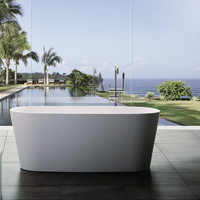 Anise Solid Surface Modern Bathtub 61.8""