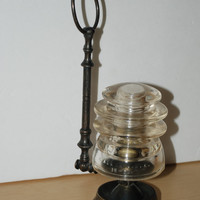 Vintage Cear Glass Insulator Hemingray 56 Made In USA 12-54