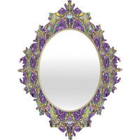 DENY Designs Home Accessories | Ingrid Padilla Pansies Baroque Mirror