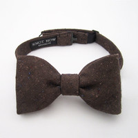 Cocoa Speckle Bow Tie