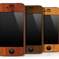 Karvt Wooden iPhone Skins by KARVT for KARVT - Free Shipping
