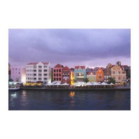 Curacao: Willemstad in purple Dusk Stretched Canvas Print from Zazzle.com