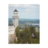 Tower of Neuschwanstein Castle with scenic Allgäu Canvas Print from Zazzle.com