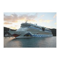 AIDAluna Cruise Ship in Road Town on Tortola Canvas Prints from Zazzle.com