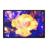 Eerie Amethyst Poppy Blossom Photo Edit Canvas Print from Zazzle.com