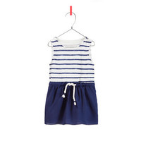 STRIPED DRESS WITH DRAWSTRING WAIST - Dresses - Baby girl - Kids - ZARA United States