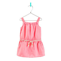 DRESS WITH CORD BELT - Dresses - Baby girl - Kids - ZARA United States