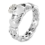 Stainless Steel Claddagh Ring with Celtic Knot Eternity Design (4mm) - Size 8