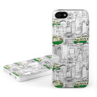 Apple iPhone 5 Hard Case - Green Line by Nicole Tamarin