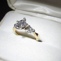 Have You Seen the Ring?: 1.01C Engagement Ring & Custom Band