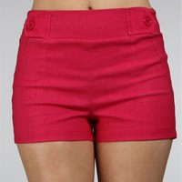 Hot Pink Pull On Shorts