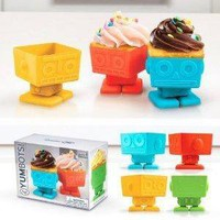 Fred and Friends YUMBOTS Robot Baking Cups, Set of 4