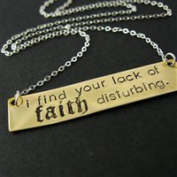 Lack of Faith Darth Vader Necklace - Spiffing Jewelry
