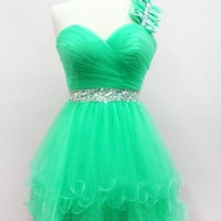 3 Color SHORT CUTE SWEET 16 DANCE PROM COCKTAIL DRESS EVENING FORMAL GOWN XS-2XL