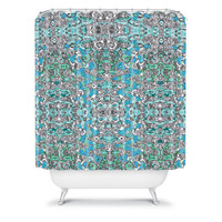 DENY Designs Home Accessories | Ingrid Padilla Inked Whimsy In Blue Shower Curtain