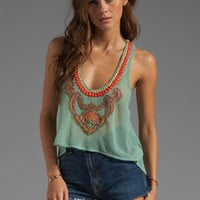 6 SHORE ROAD Nuri Beaded Crop Top