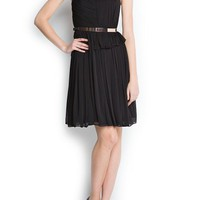 MANGO - CLOTHING - Dresses - Pleated sheer dress