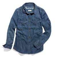 Western Jean Shirt in Nightsky Wash