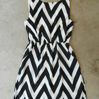 The Everly Zig Zag Cinched Dress [4038] - $46.00 : Vintage Inspired Clothing & Affordable Summer Frocks, deloom | Modern. Vintage. Crafted.